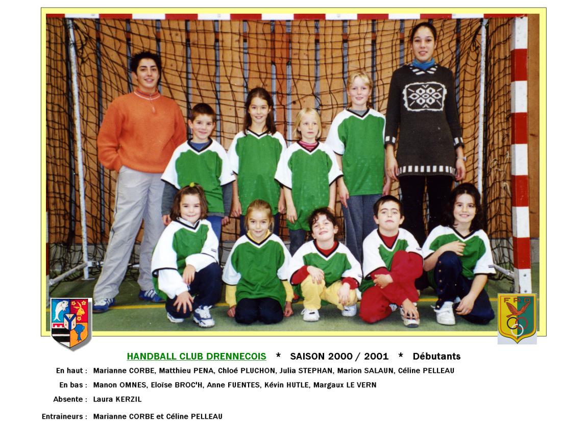 1Handball2000-2001-Débutants