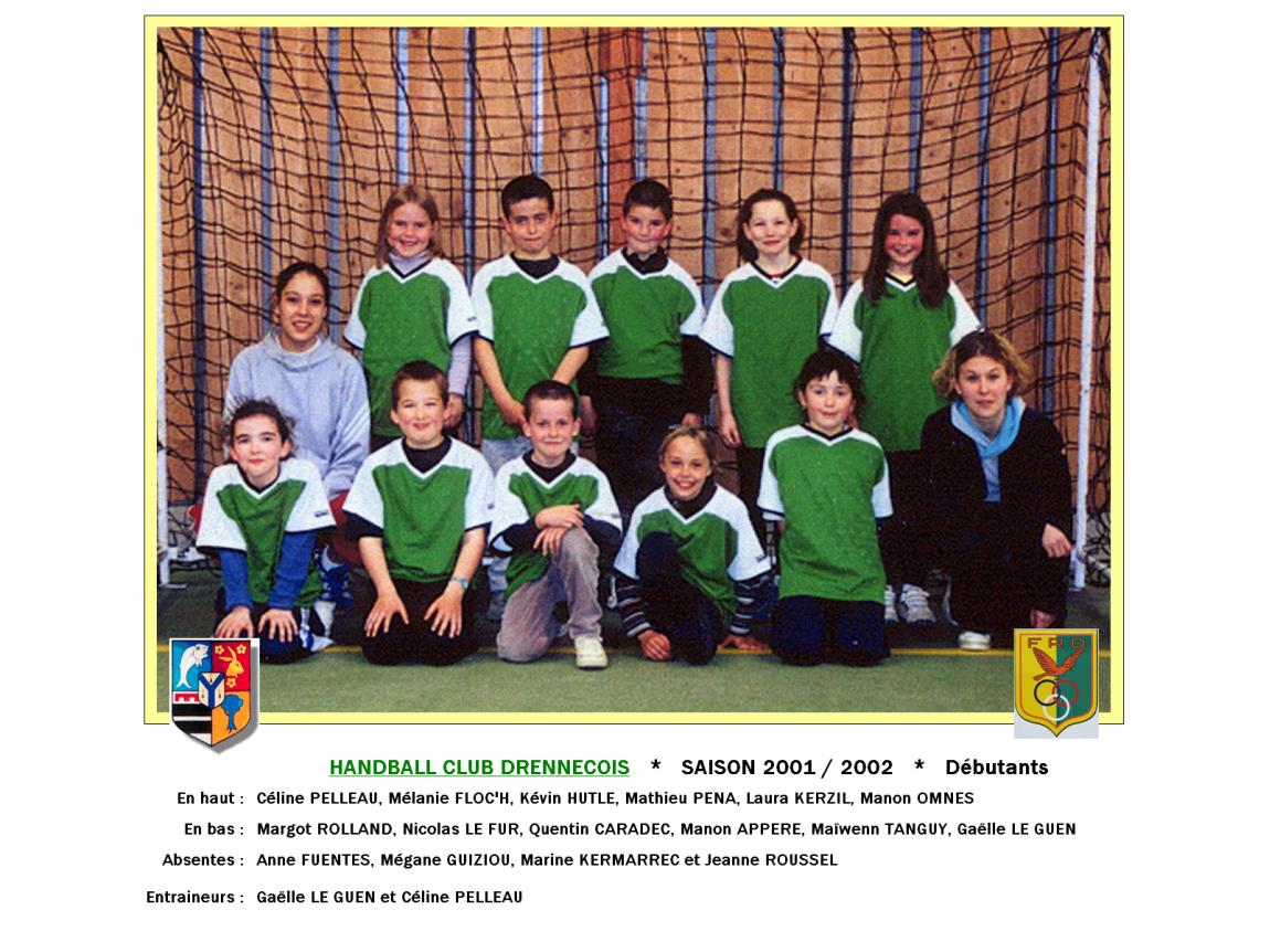 1Handball2001-2002-Débutants