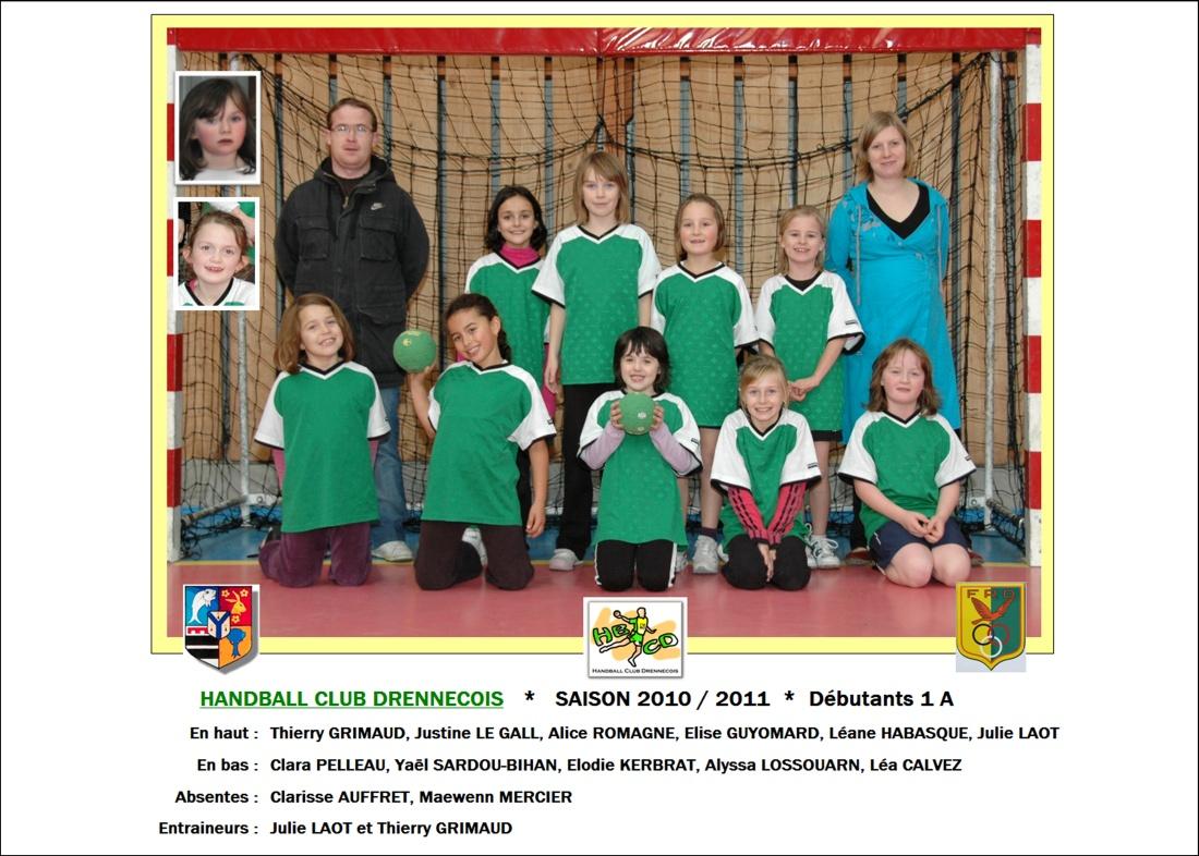 2010-2011-Débutants 1 A