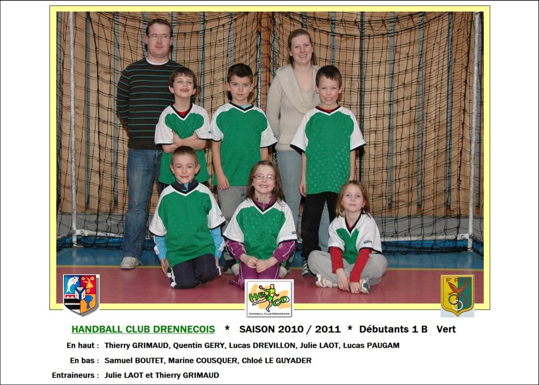 2010-2011-Débutants 1 B   Vert