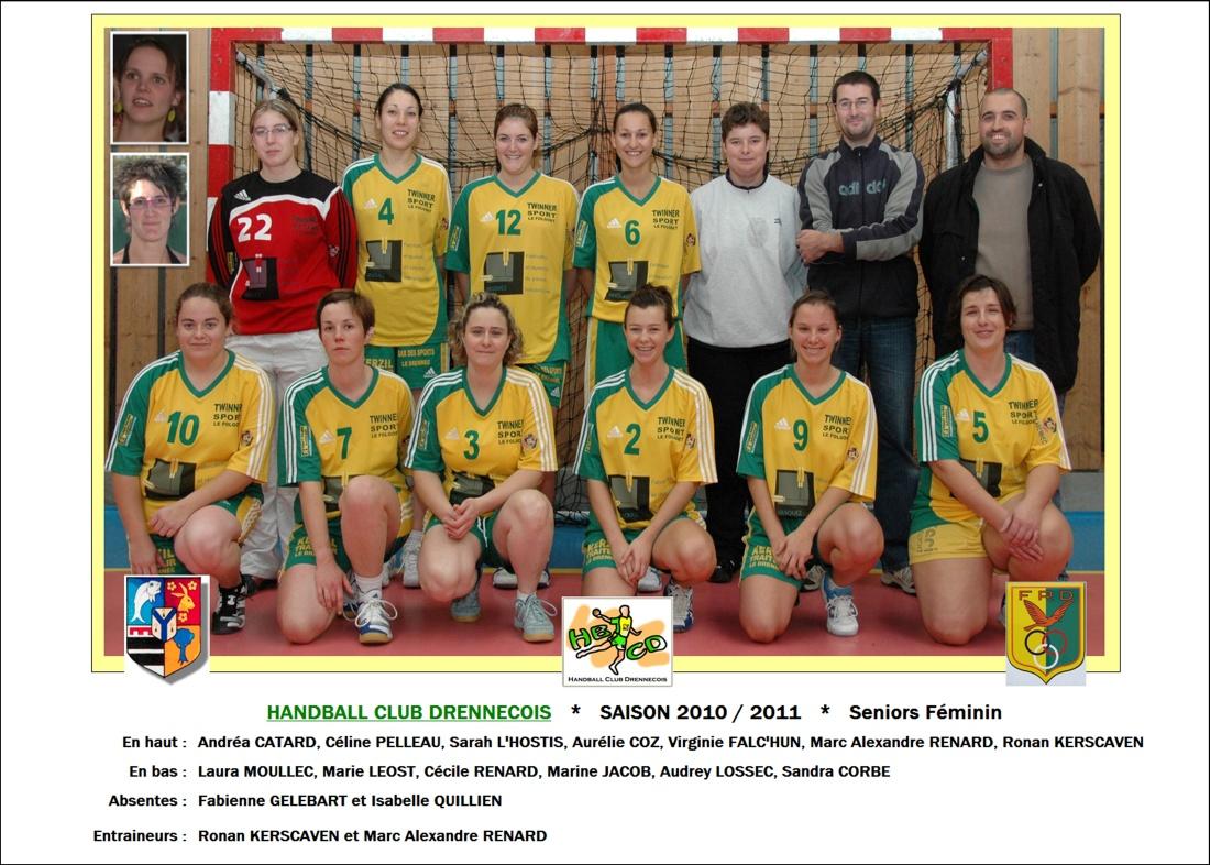 2010-2011-Seniors Féminin