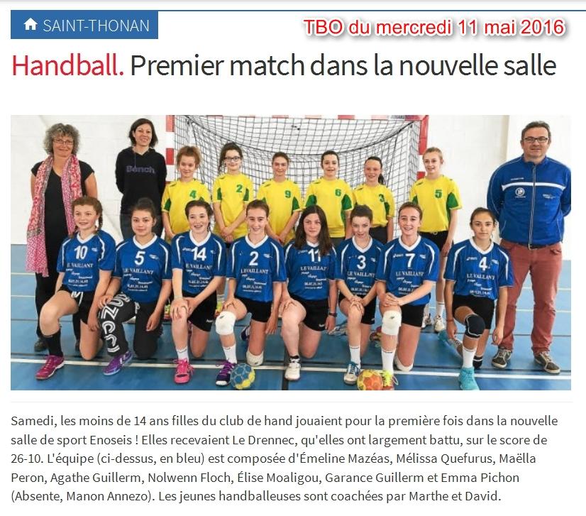 2016-05-11-Saint-Thonan-Handball-Premiers match dans la nouvelle salle
